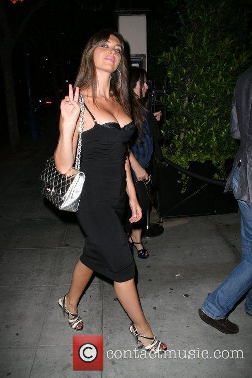 Brittny Gastineau and a friend leaving Crown Bar...