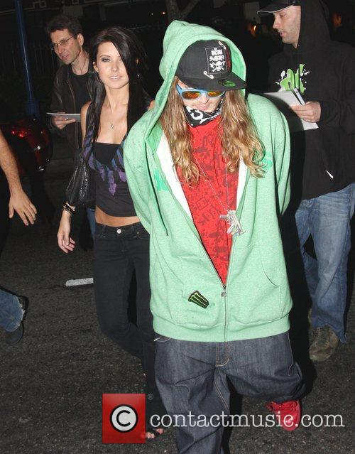 Leaving the Crown Bar in West Hollywood