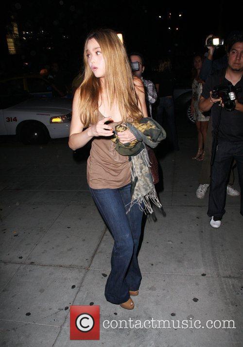 Devon Aoki leaving the Crown bar Los Angeles,...