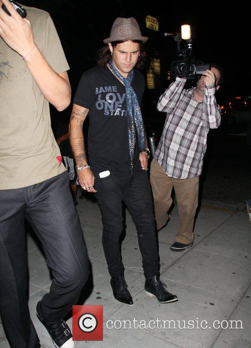 Ryan Cabrera leaving the Crown bar with a...