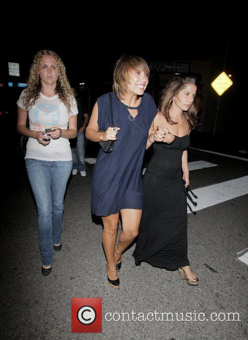 Cheryl Burke leaving Crown nightclub with friends Hollywood,...