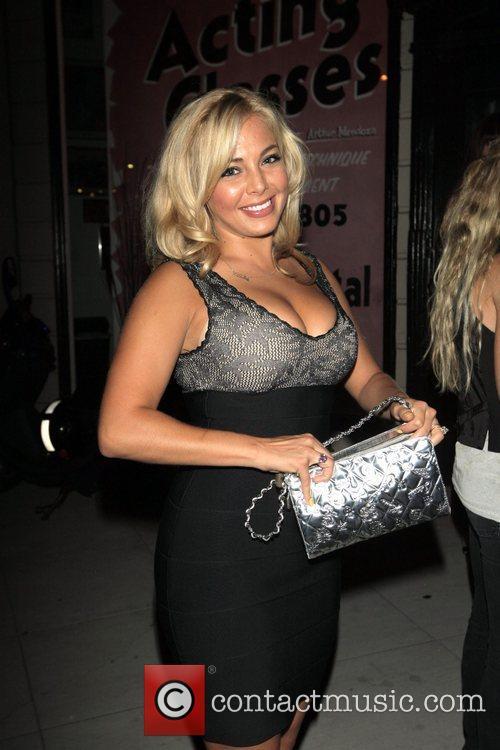 London Rouge leaving Crown nightclub Hollywood, California