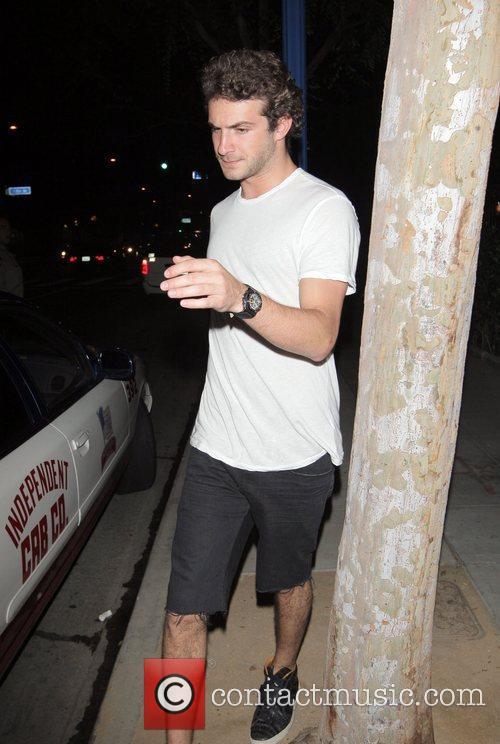 Stavros Niarchos leaving Crown nightclub Hollywood, California