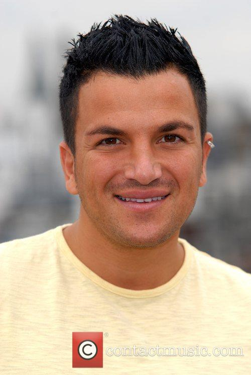 Peter Andre is presented with the award for...