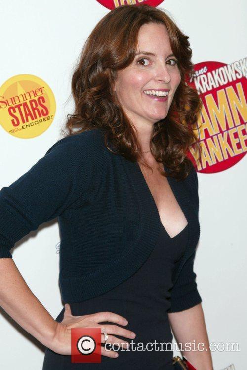 Tina Fey Opening night performance of 'Damn Yankees'...