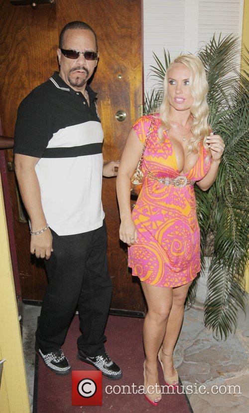 Ice-T and wife Coco aka Nicole Austin outside...