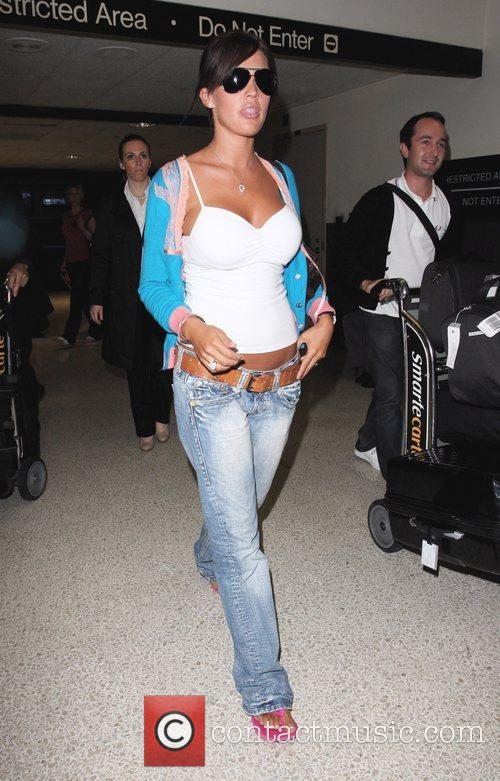 Danielle Lloyd arrives at LAX airport Los Angeles,...