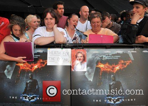 Atmosphere The UK premiere of ''The Dark Knight'...