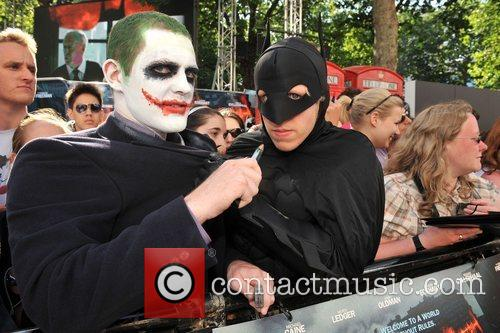 The UK premiere of ''The Dark Knight' held...