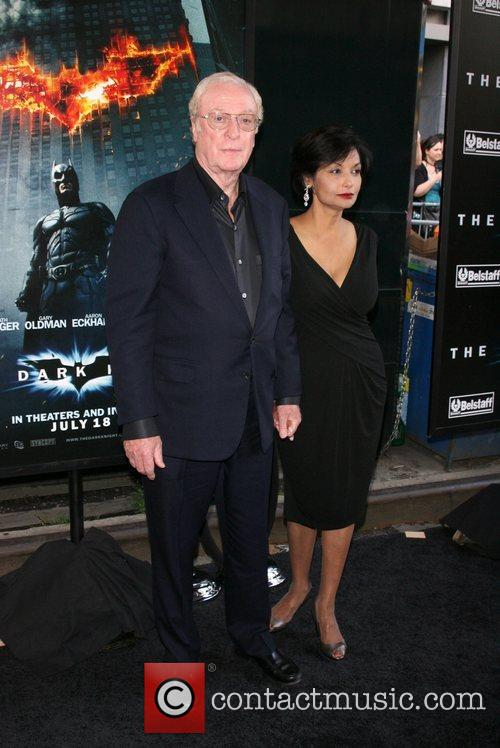 Michael Caine and Shakira Caine New York Premiere...