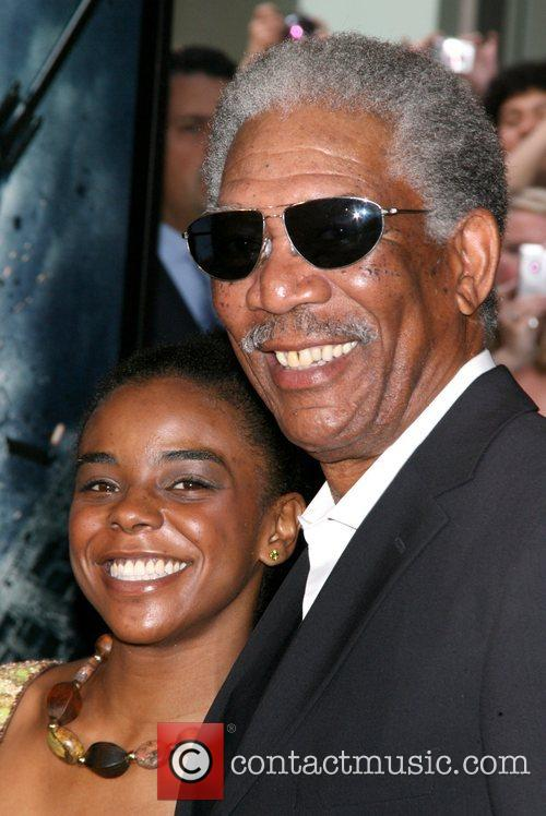 Morgan Freeman and guest New York Premiere of...