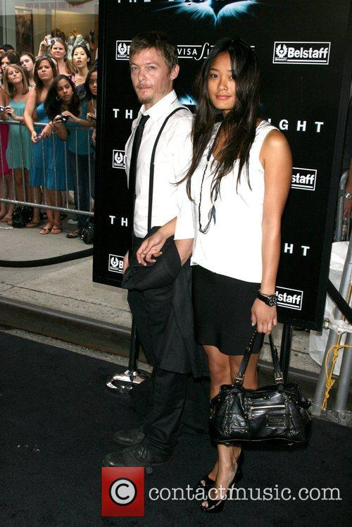 Norman Reedus and guest New York Premiere of...