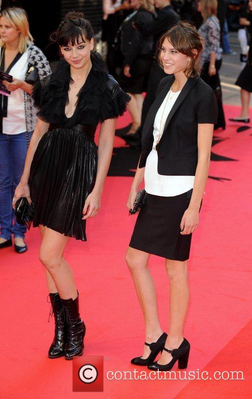 Daisy Lowe and Alexa Chung The UK premiere...
