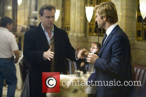 Christopher Nolan and Aaron Eckhart 2
