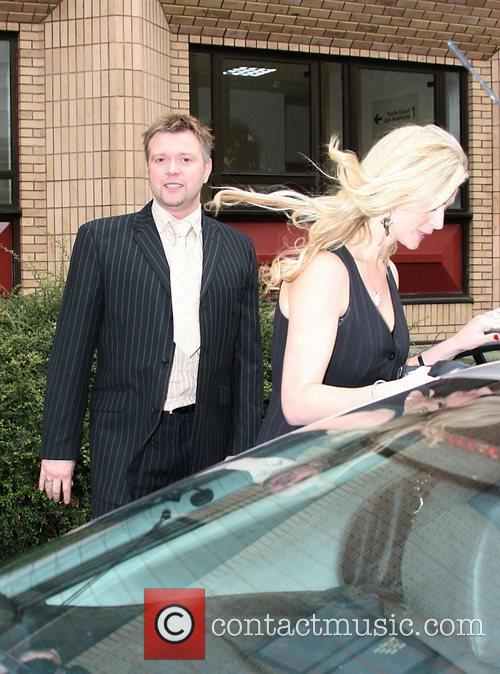 Darren Day leaving Cardiff Magistrates Court with his...