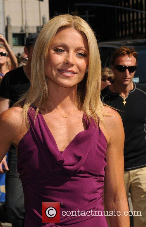 Kelly Ripa  outside 'The Late Show with David...