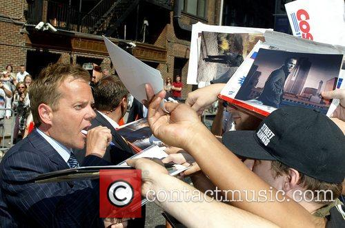 Kiefer Sutherland, David Letterman and Ed Sullivan Theatre 13