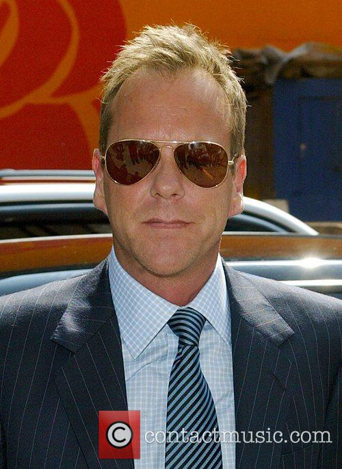 Kiefer Sutherland, David Letterman and Ed Sullivan Theatre 1