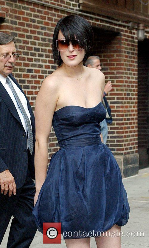 Rumer Willis, David Letterman and Ed Sullivan Theatre 3