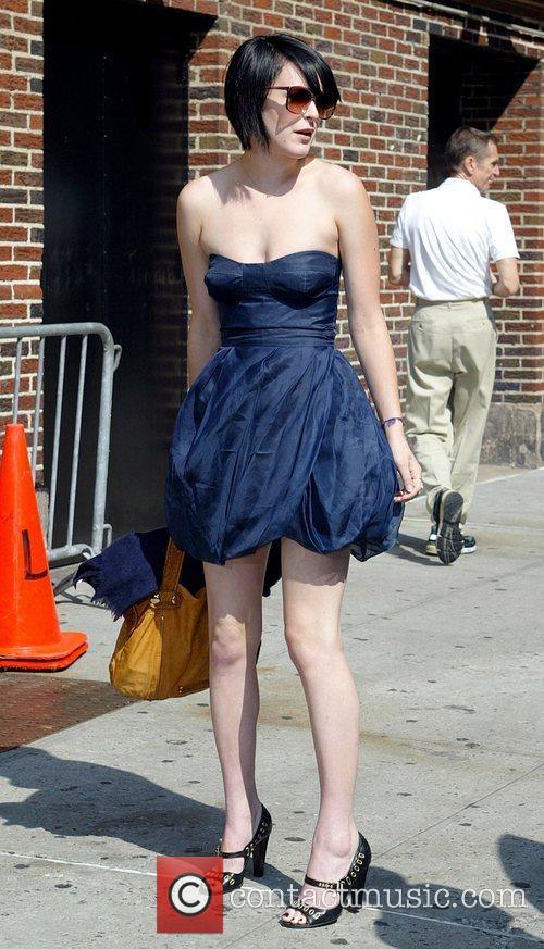 Rumer Willis, David Letterman and Ed Sullivan Theatre 4