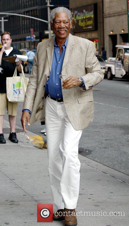 Morgan Freeman, Cbs and David Letterman 2