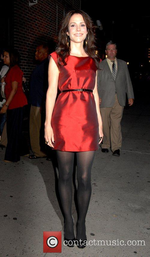Mary Louise Parker and David Letterman 2