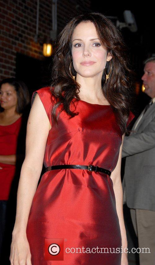 Mary Louise Parker and David Letterman 1
