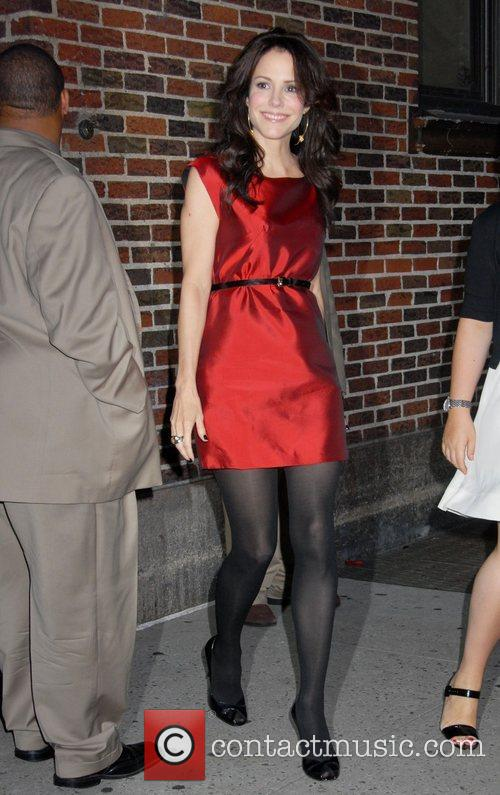 Mary Louise Parker and David Letterman 4