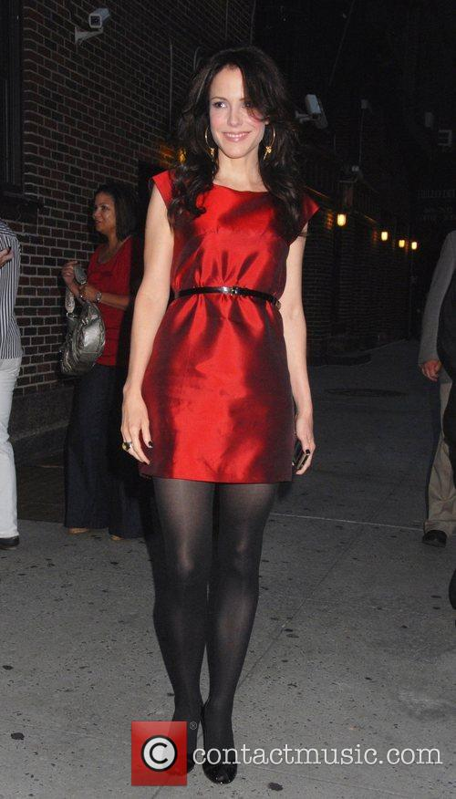 Mary Louise Parker and David Letterman 6
