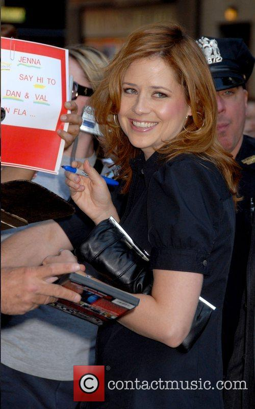 Jenna Fischer, Cbs and David Letterman 4