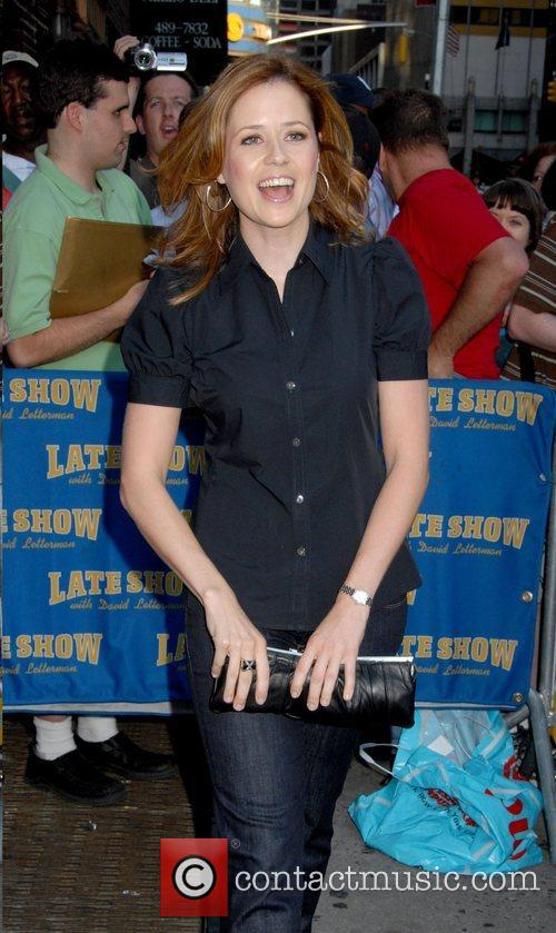Jenna Fischer, CBS and David Letterman 1