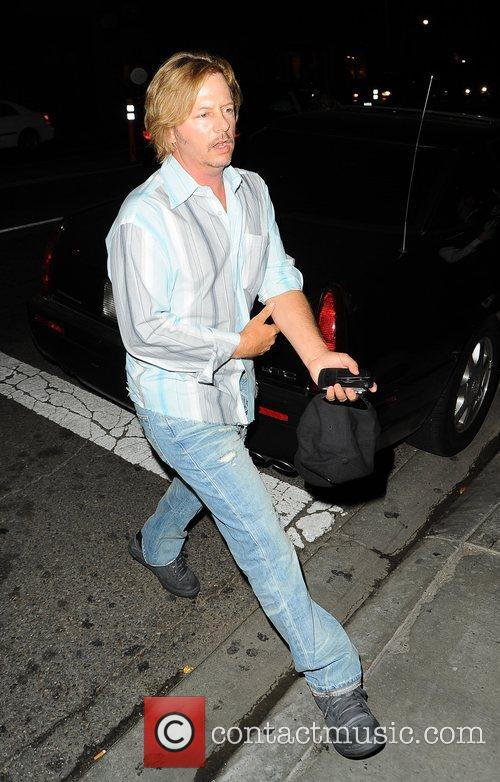 David Spade arriving at STK in West Hollywood...