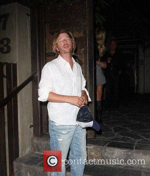 David Spade goes to Koi restaurant in West...