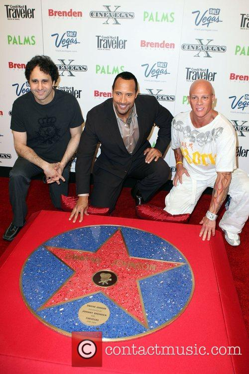 George Maloof, Dwayne Johnson and Johnny Brenden Dwayne...