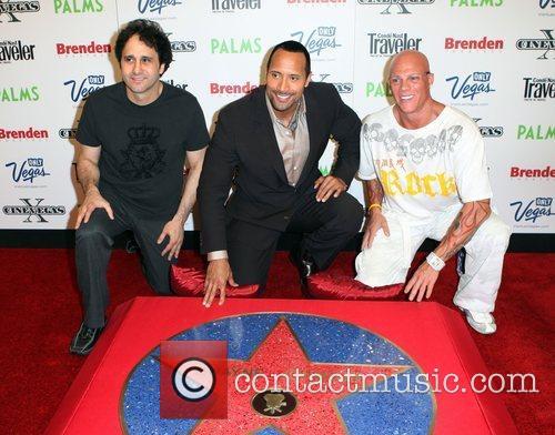 George Maloof, Dwayne Johnson AKA The Rock and...