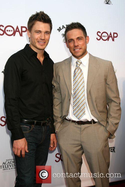 Dylan Bruce and Jon Prescott