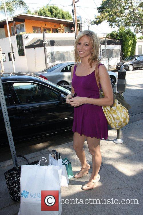 Outside the Emmy Gift Suite at Sunstyle Tanning...