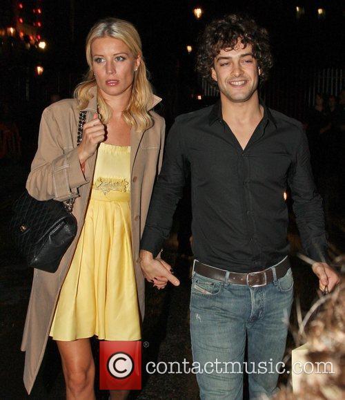 Denise Van Outen and her boyfriend Lee Mead...