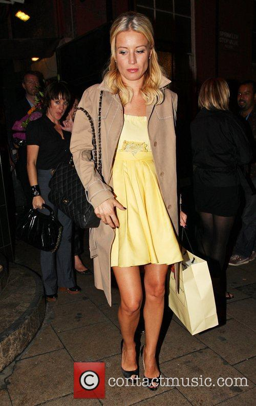 Denise Van Outen and her boyfriend leave the...