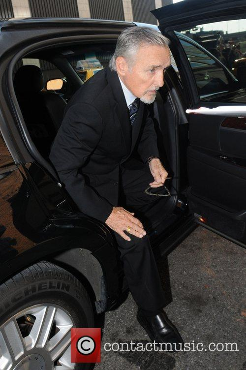 Dennis Hopper arriving at the Comedy Central Studios...
