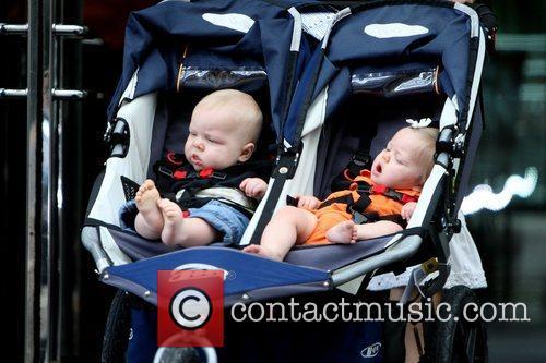 Dennis Quaid's twins Thomas Boone and Zoe Grace...