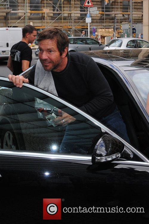Dennis Quaid  leaving the Regent Hotel with...