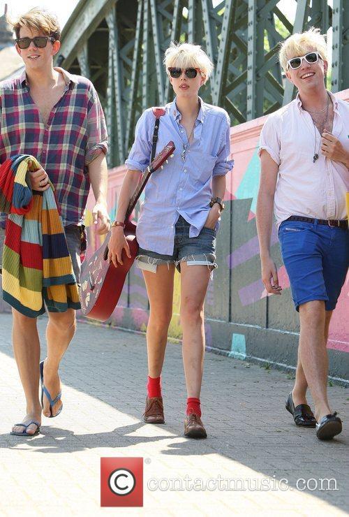 English supermodel Agyness Deyn and presenter Nick Grimshaw...