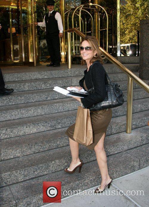 Diane Lane arrives at her hotel New York...