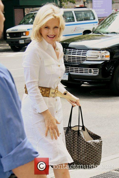 ABC news anchor Diane Sawyer goes to Jean...