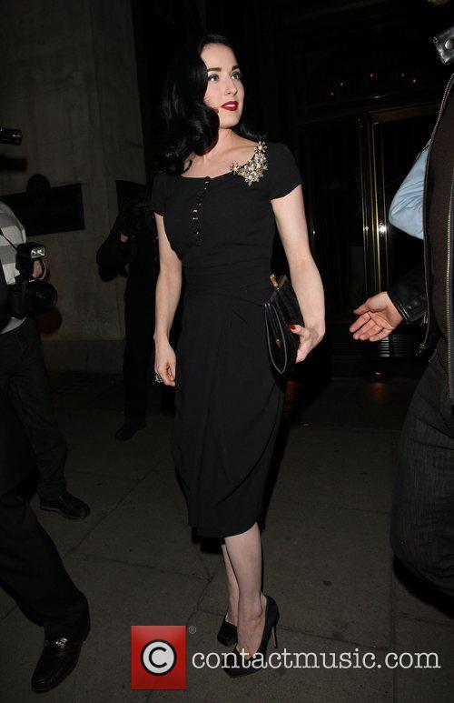 Dita Von Teese leaving the Wolseley