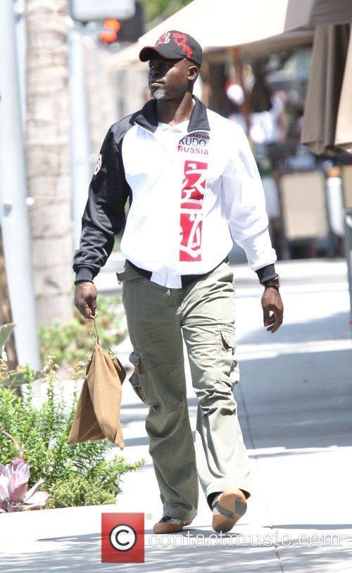 Djimon Hounsou 'Blood Diamond' star out and about...