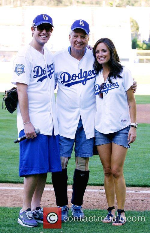 Dodgers 50th Hollywood Stars soft ball game held...