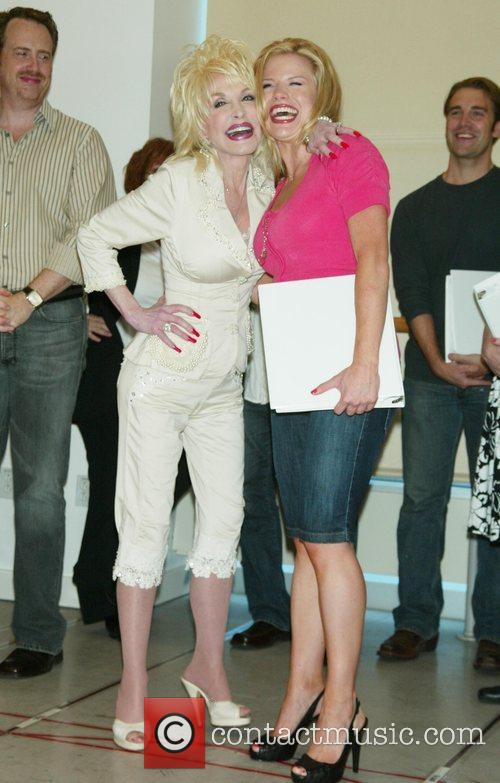 Dolly Parton and Megan Hilty meet and greet...