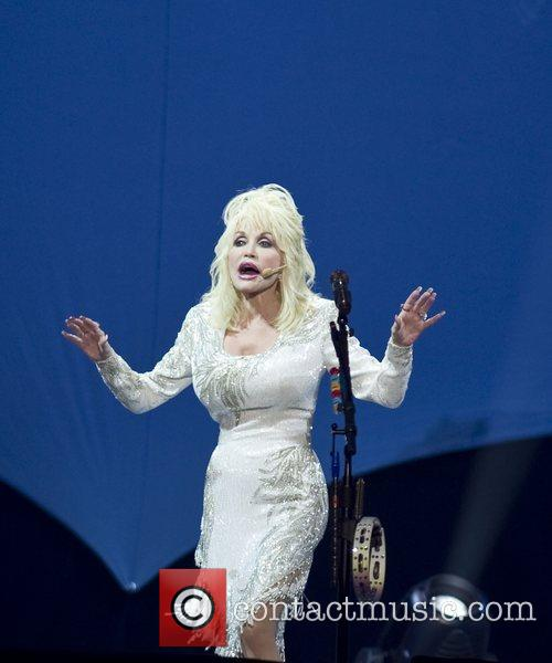 Dolly Parton performing live at the National Indoor...